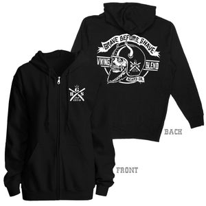 Image of GRAVE BEFORE SHAVE Viking Beard Zip Up Hoodie