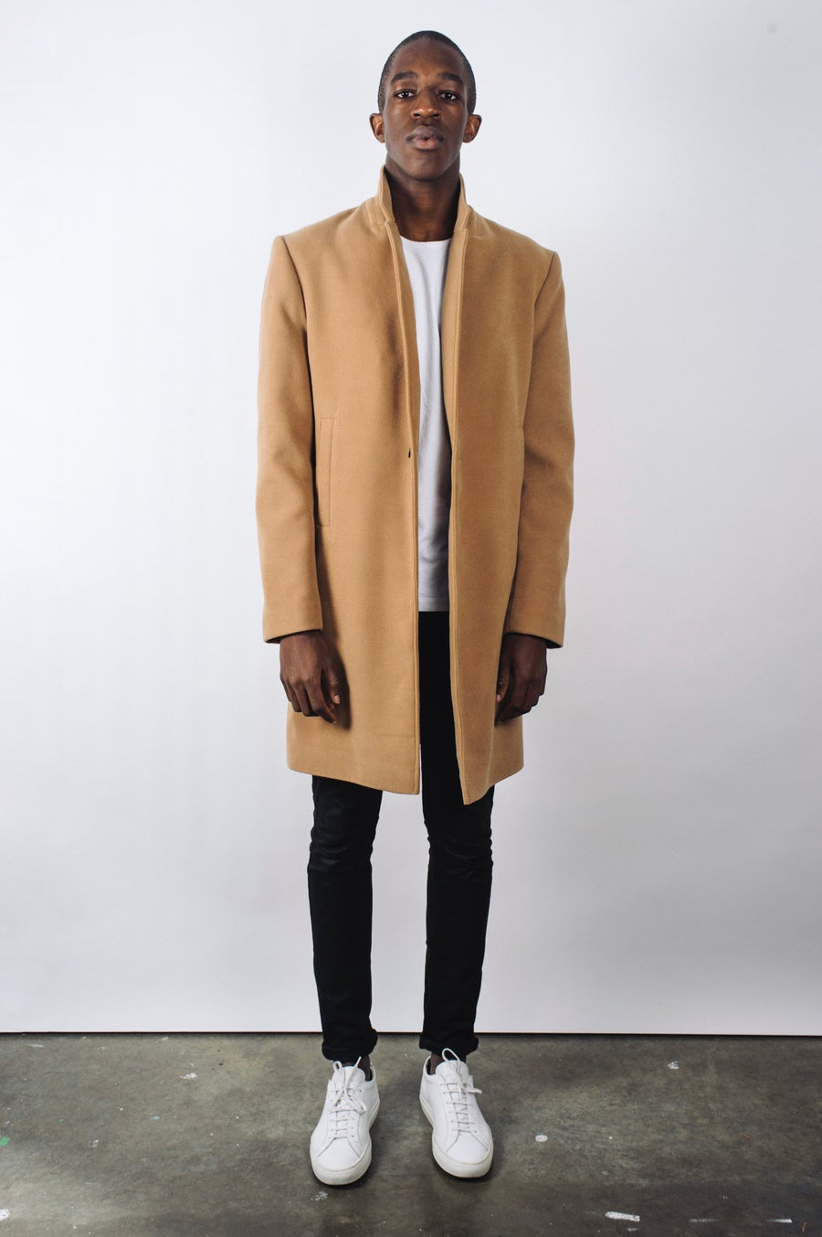 Image of Camel Cashmere/Wool Overcoat