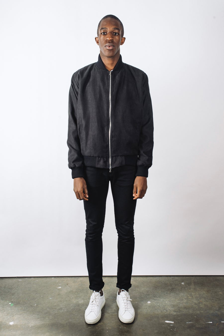 Image of Black Ultra Suede Bomber