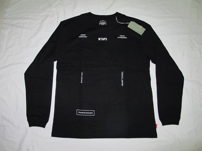 Image of Wtaps - Logo Form Long Sleeve Tee(Black)