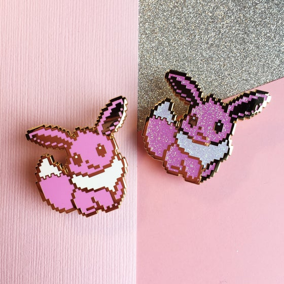 Image of 8bit Eevee Enamel Pin