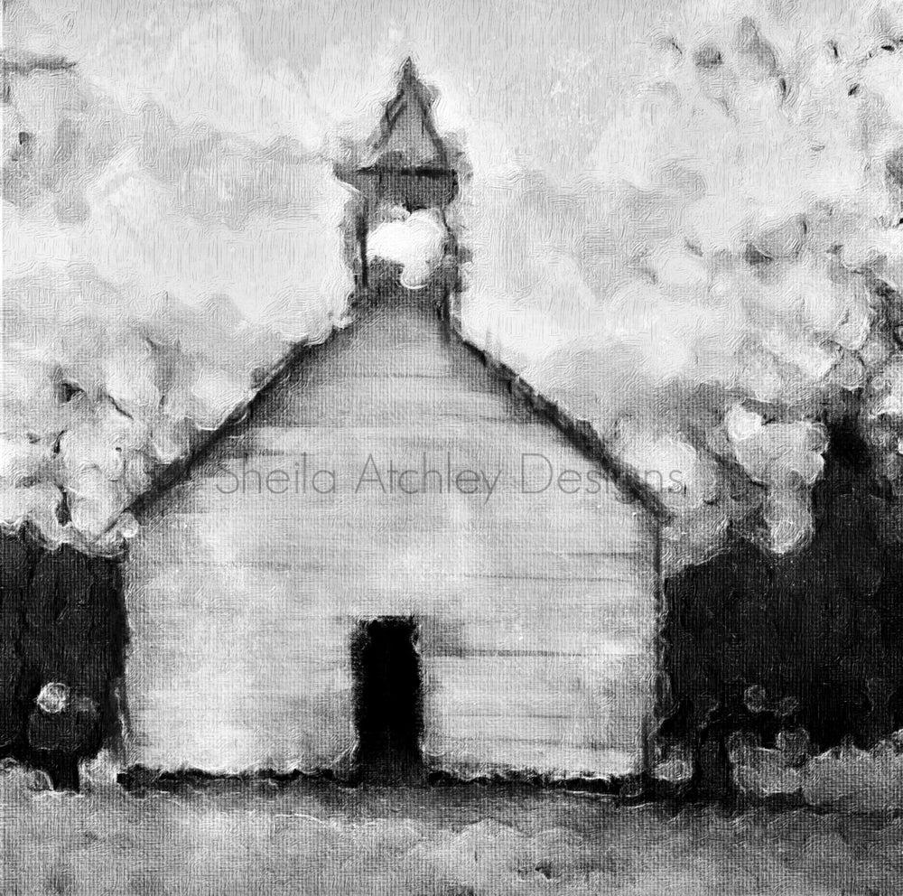 "Image of Cades Cove Primitive Baptist Church 24""x24"" giclee"