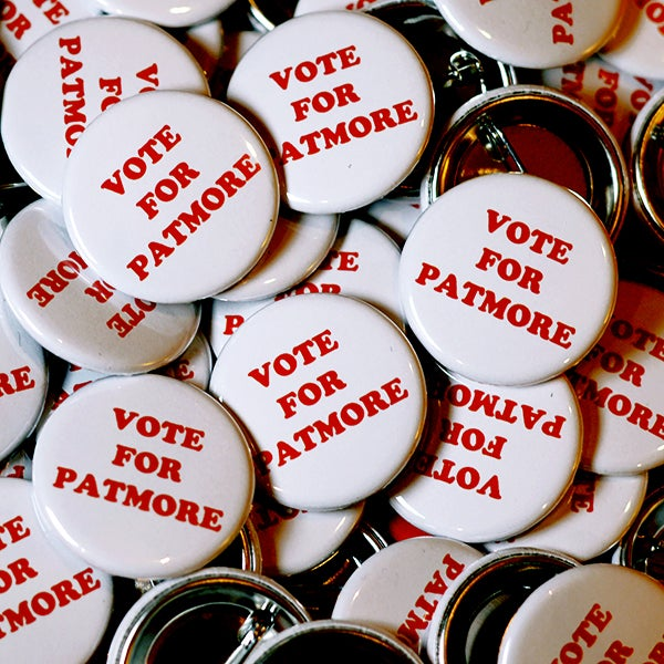 Image of Official 'Vote For Patmore' Badge