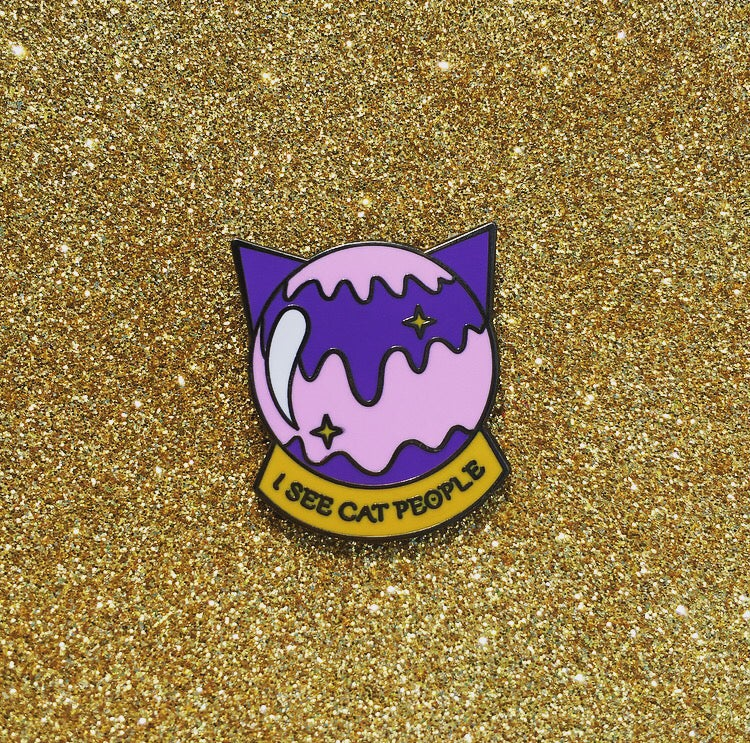 Image of I see cat people Pin