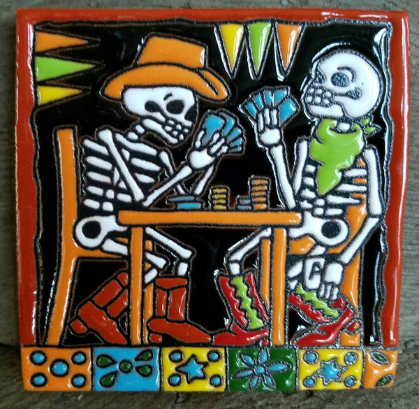 Image of Texas Hold em Poker Coaster Tile