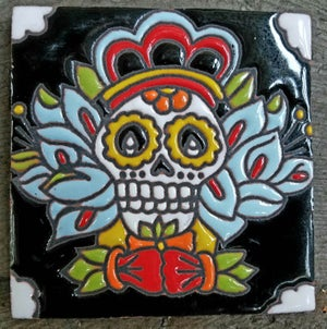 Image of Sugar Skull Diego Coaster Tile