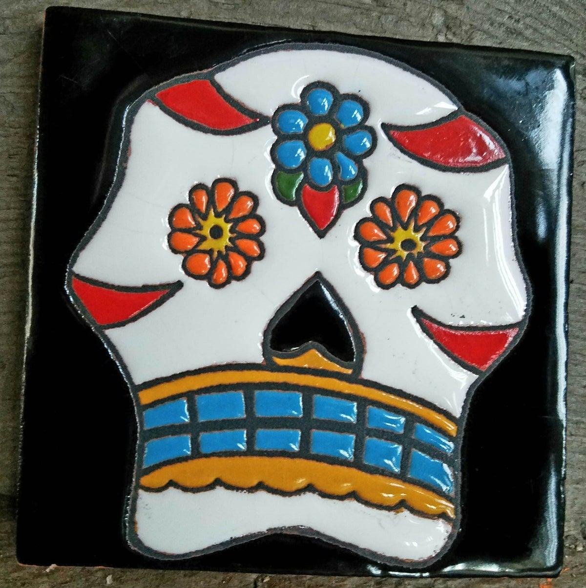 Image of Sugar Skull Coaster Tile