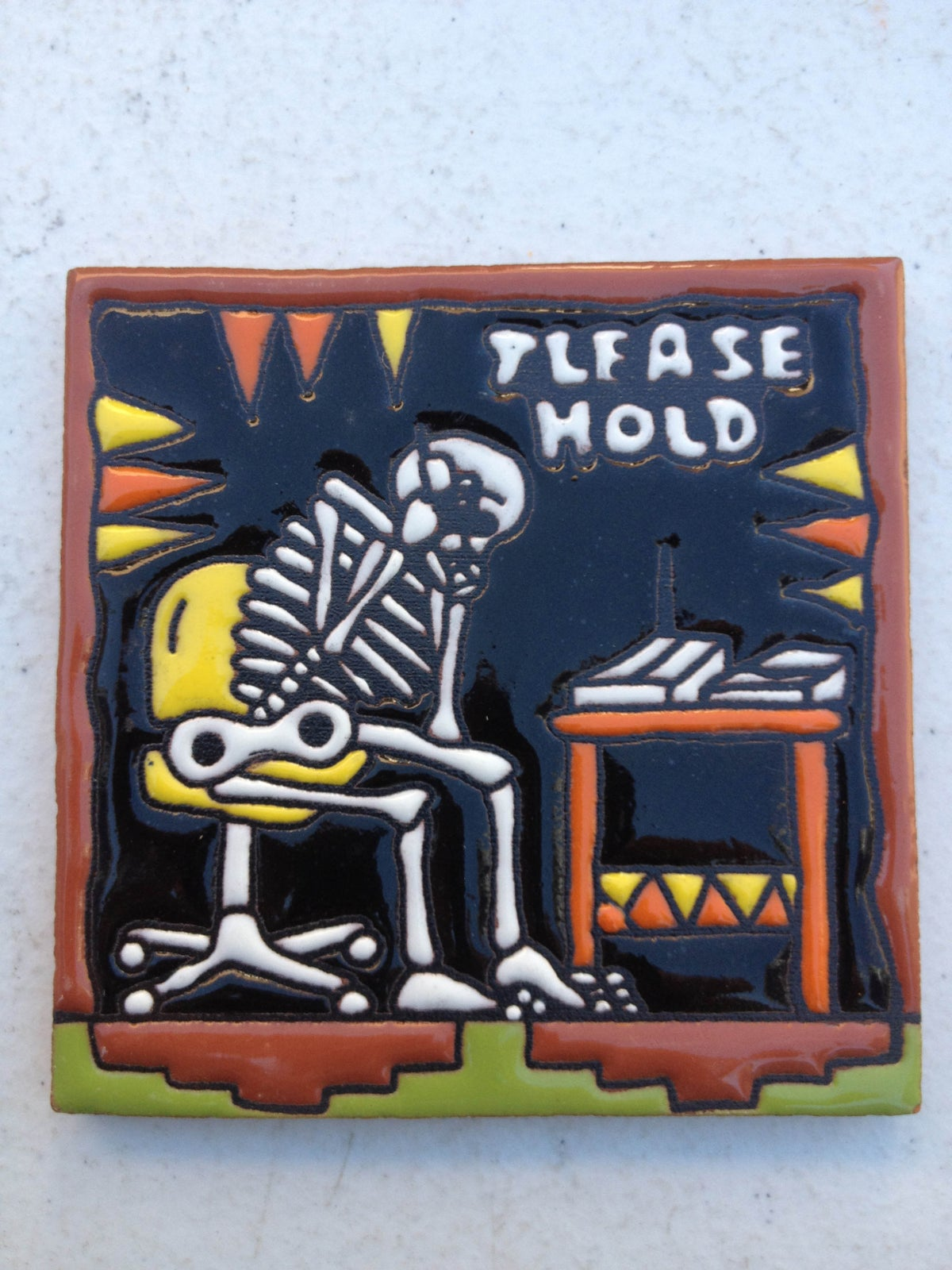 Image of Please Hold Coaster Tile