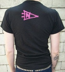 Image of Northeast Records Logo Tee - Pink on Black- (Women's)
