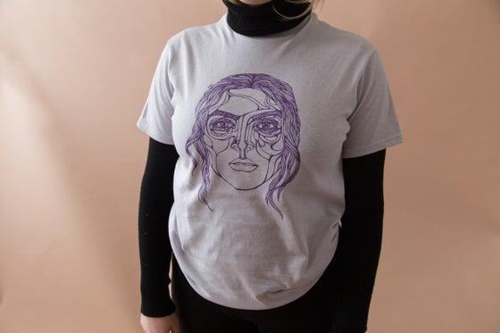 Image of The Strange Shirt (Gray and Purple)