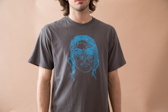 Image of The Strange Shirt (Charcoal and blue)