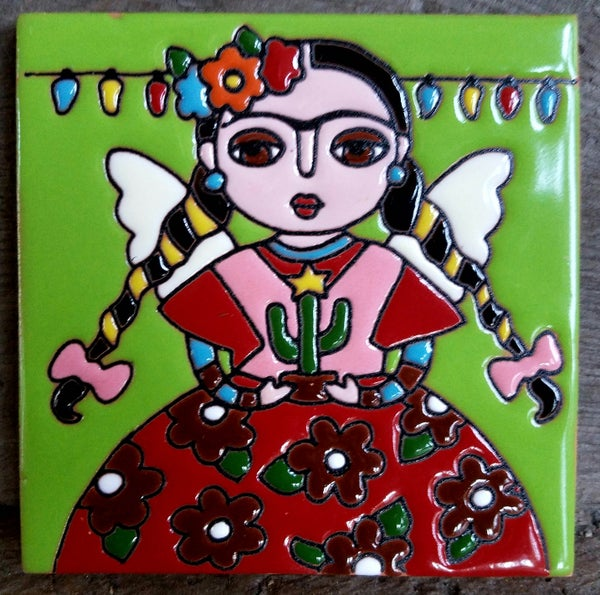 Image of Mini Frida xmas Lights Coaster Tile
