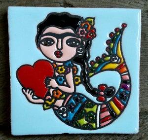 Image of Mini Frida Mermaid Coaster Tile
