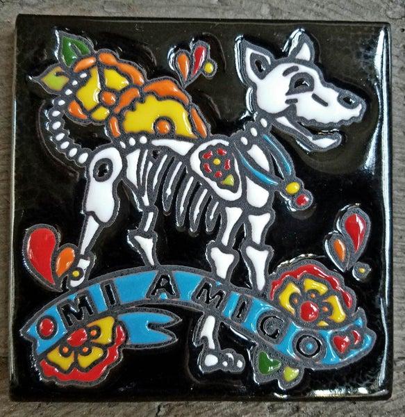 Image of Mi amigo Perro Coaster Tile