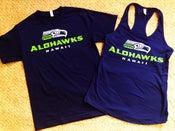 Image of Alohawks Blue Shirts, Women's Tanks, & V-Necks