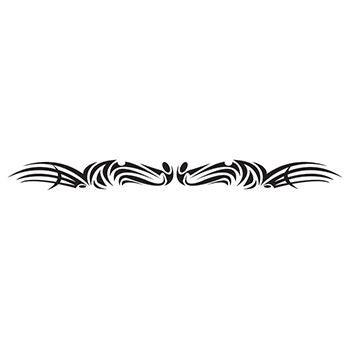 Image of Sleek Superhero 6-Inch Black Tattoo