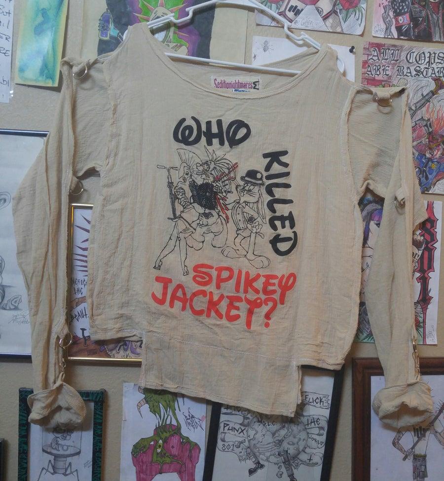 Image of Who Killed Spikey Jacket? Gauze bondage shirt