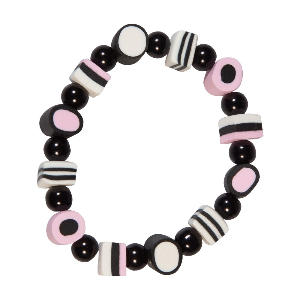 Image of Pastel Pink Licorice Allsort Bracelet