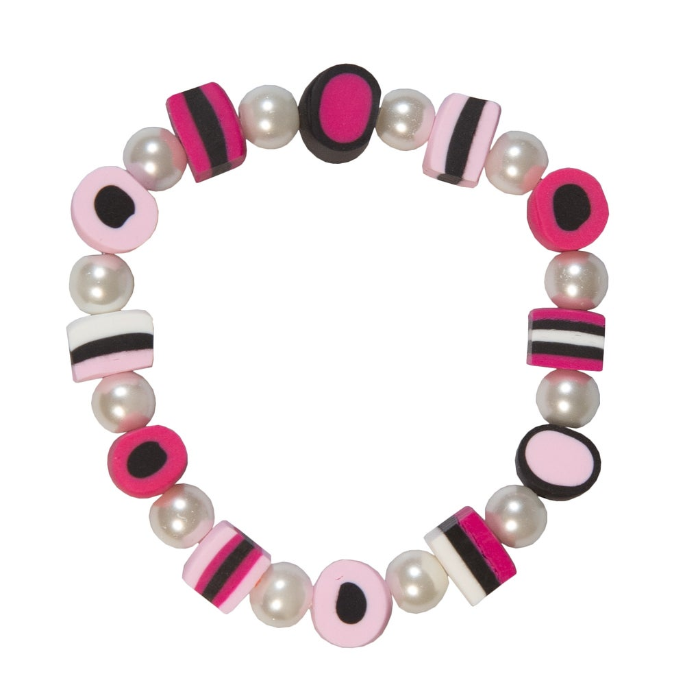 Image of Bright Pink Licorice Allsort Bracelet