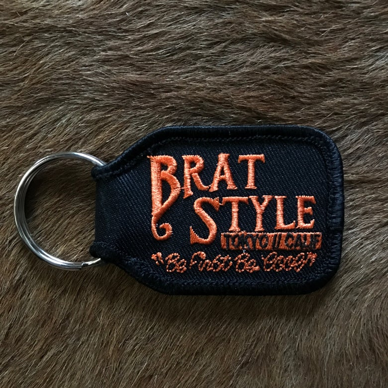 Image of BRAT STYLE KEY RING Orange