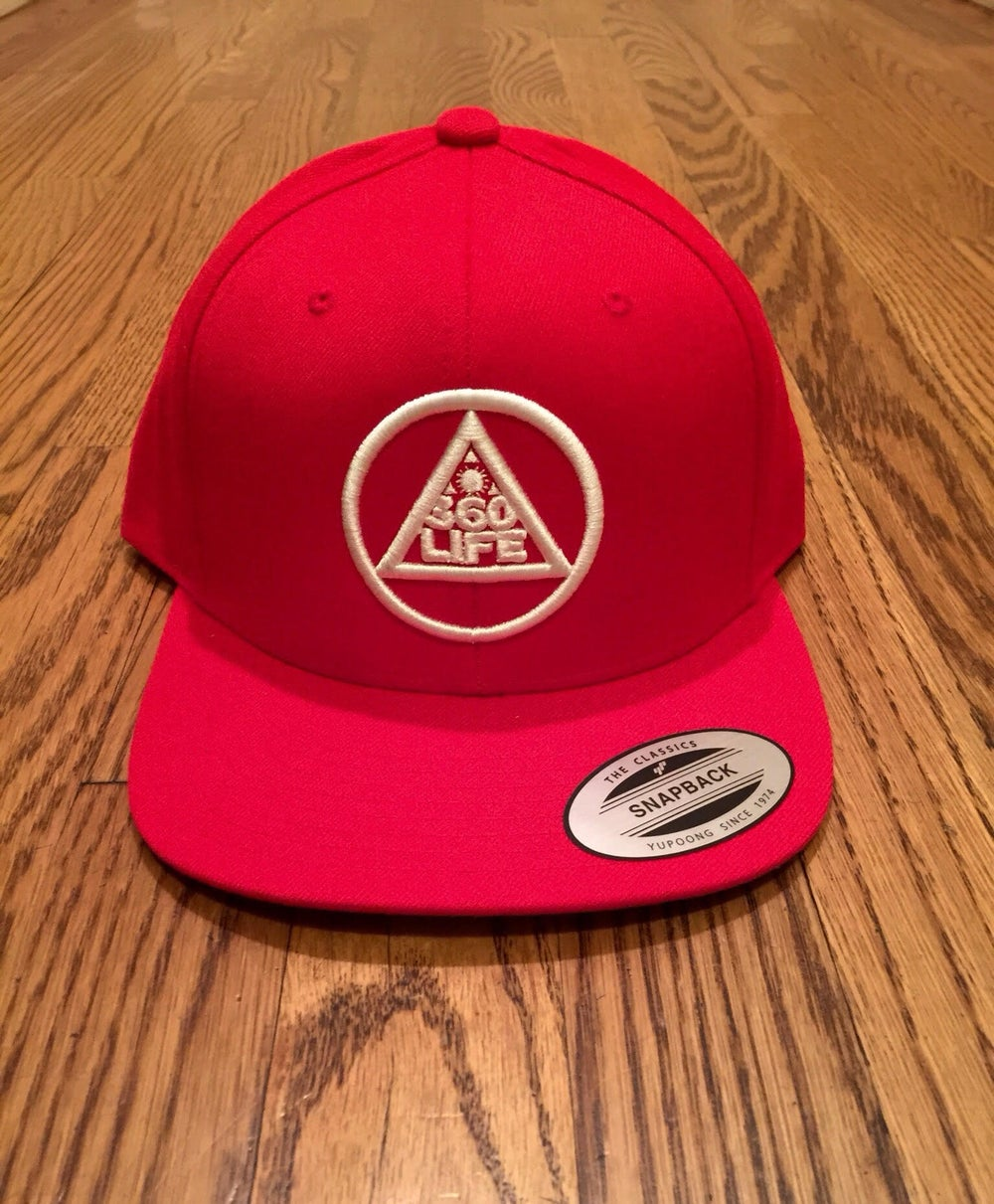 Image of Red 360 Snapback