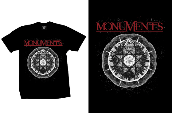 Image of MONUMENTS - Trockz - Black Tee