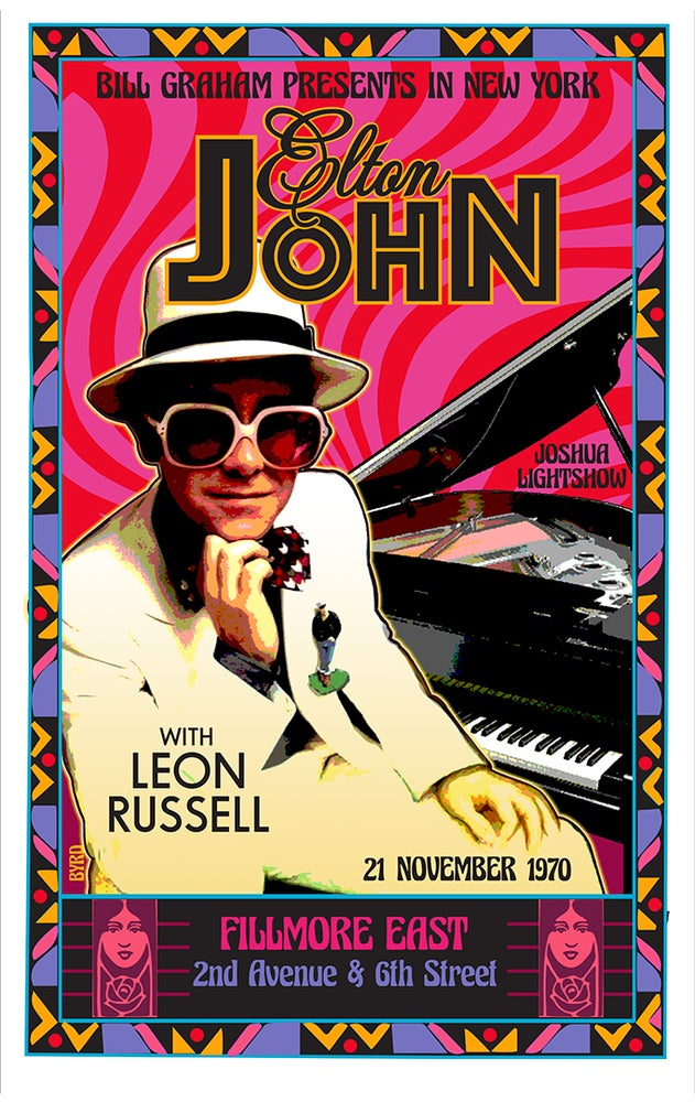 Image of ELTON JOHN Debut at Fillmore East 1970