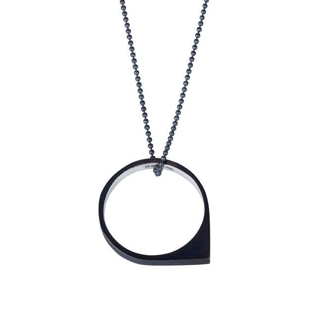 Image of Convertible necklace/ring 'Circle+|- #5 Drop'