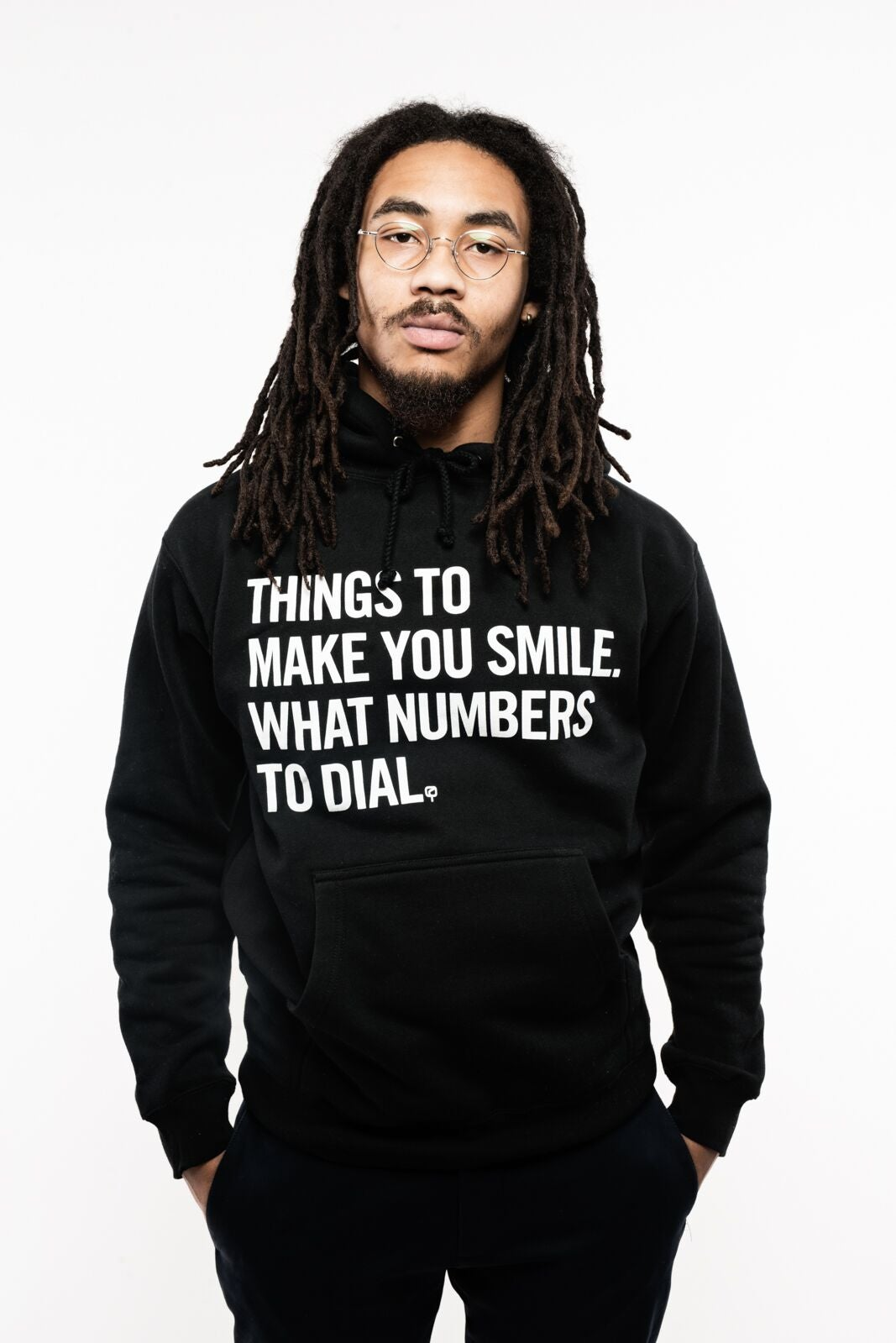 Image of MAD QUESTION ASKING - Hoodie (BLACK)