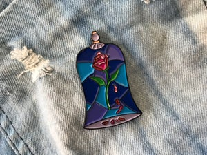 Image of Stained Glass Rose (Beauty & the Beast) V. 3 Enamel Pin