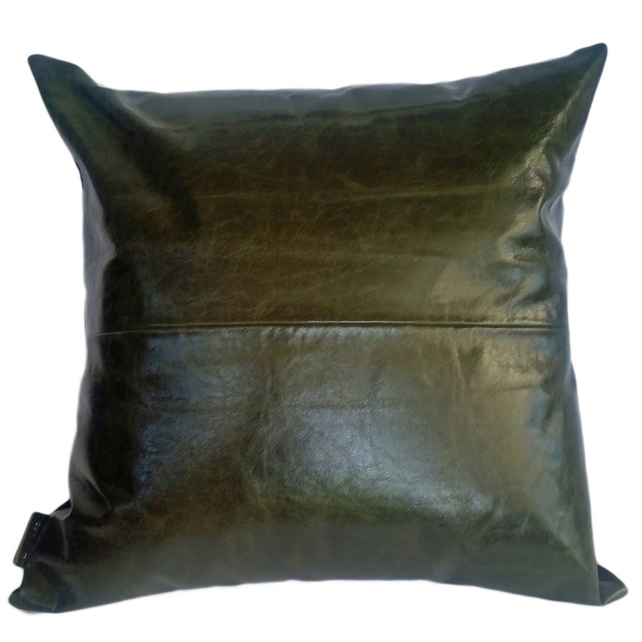 Image of Leather cushion - assorted colours & sizes