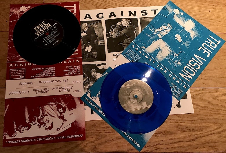 "Image of True Vision 'Against the Grain' 7"" UKHC"