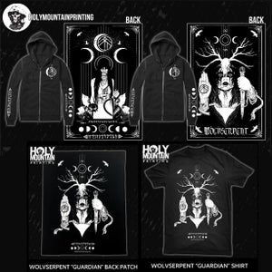 Image of Hoodie, Tee, Back Patch from Holy Mountain Printing