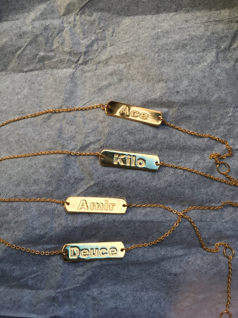 Image of Custom baby bracelet (necklace option is available)