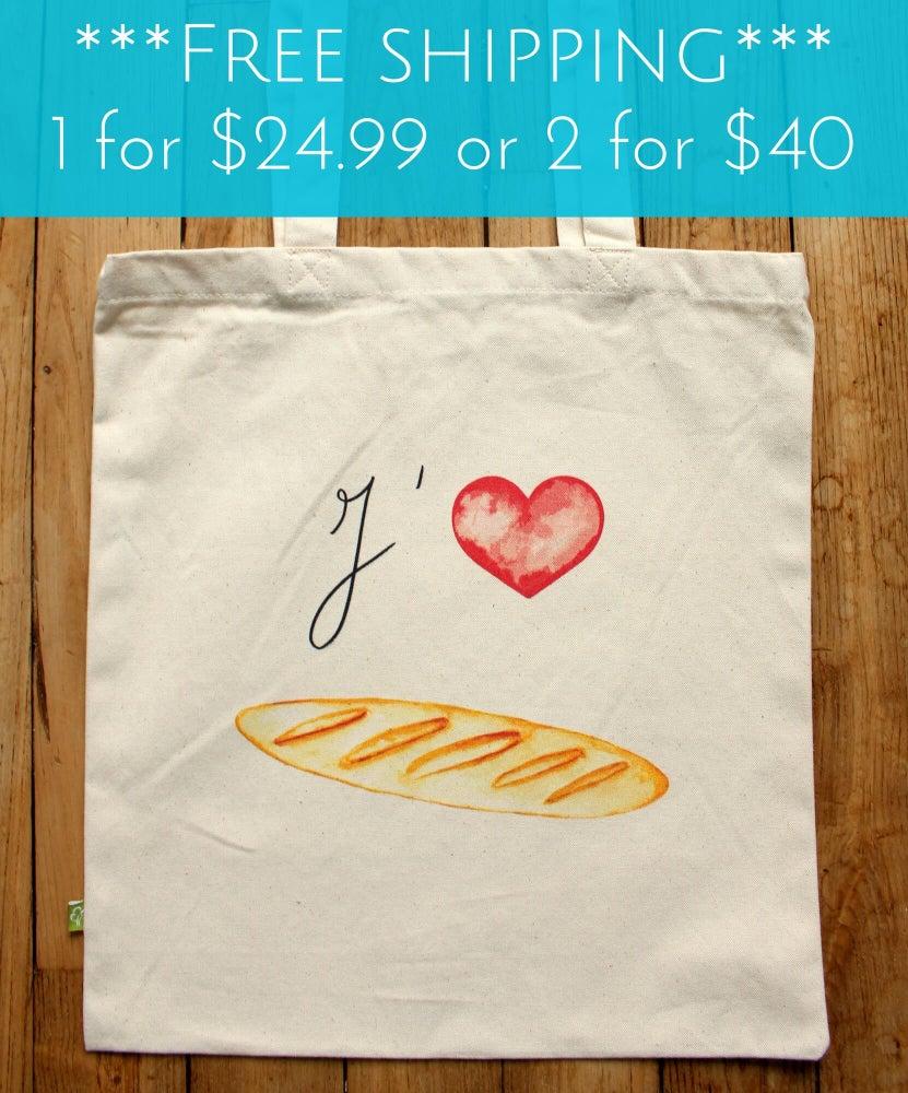 Image of Baguette Love Tote Bag