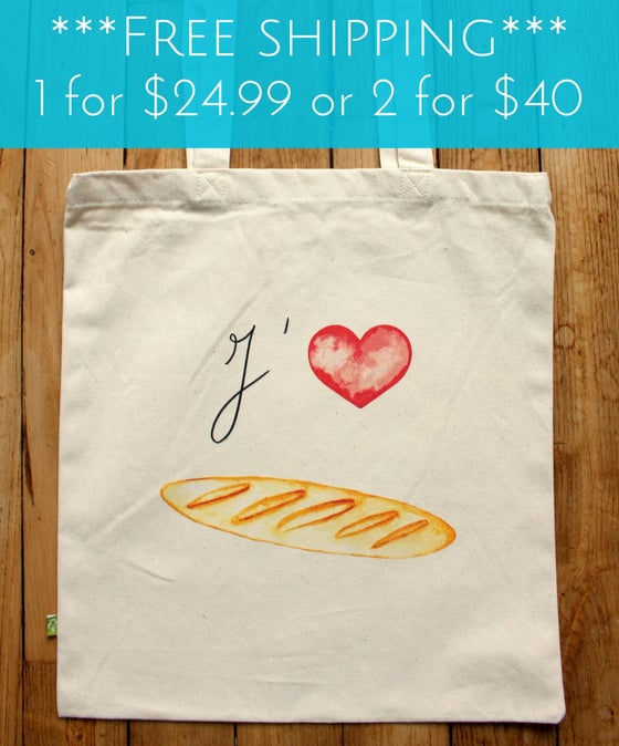 Image of Baguette Love Tote Bag