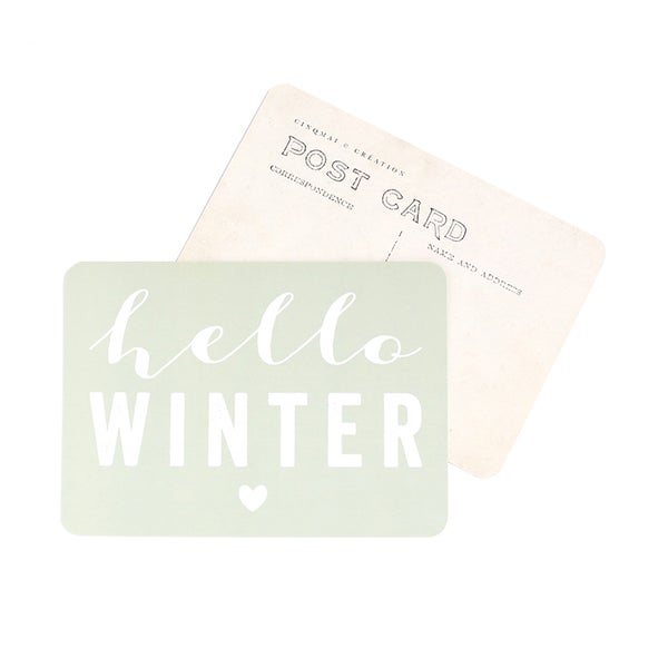 Image of Carte Postale HELLO WINTER / SMOKE GREEN
