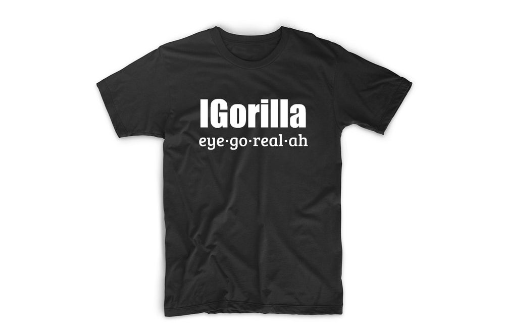 Image of iGorilla  spelled out T