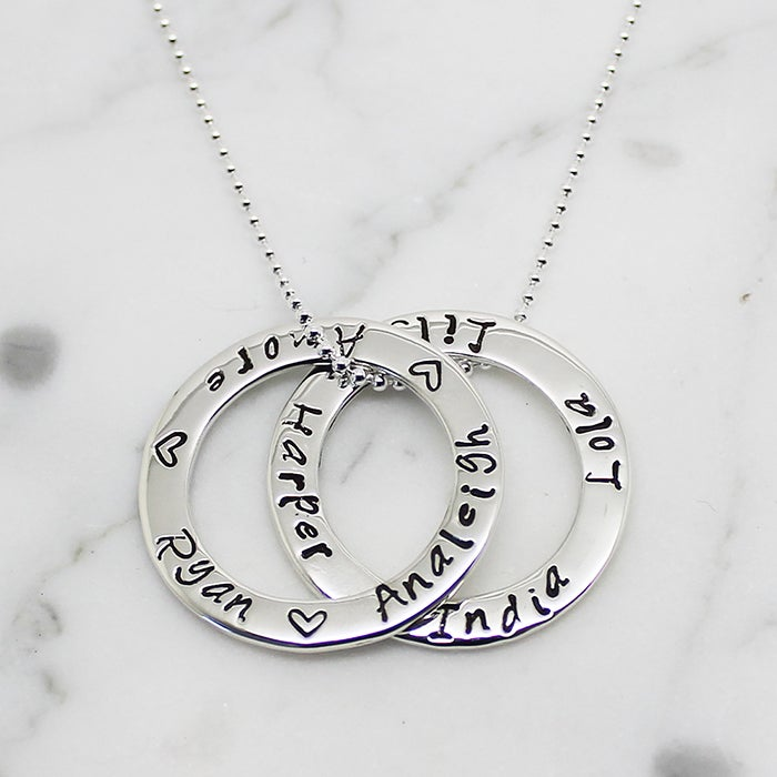 "Image of Double ""Circle of Love"" Necklace"