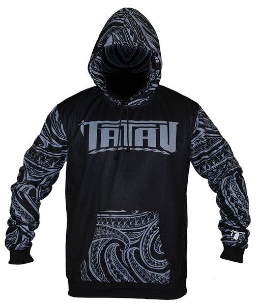 Image of Tatau Dri-Tech Hoodie Black/Grey Sport Fit