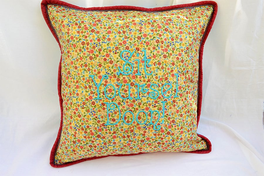 Image of Sit Yoursel Doon Floral Cushion