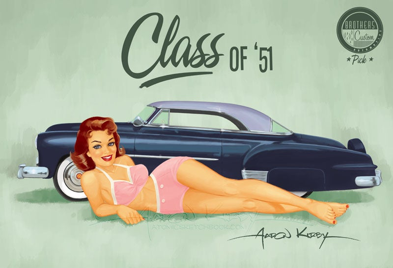 Image of Larry Ernst Chevy (v2) pin up print