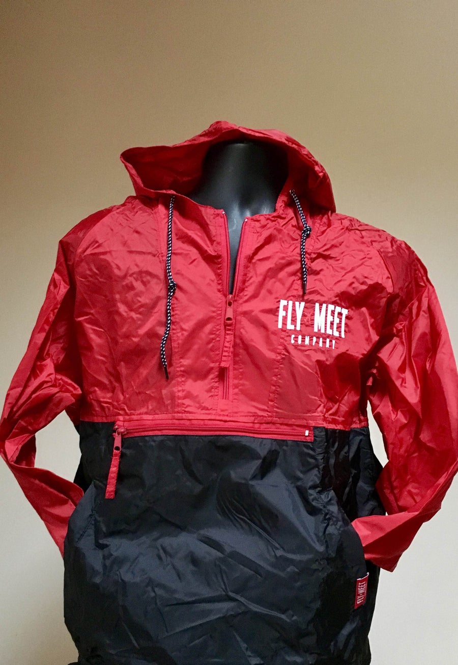 Image of Fly Meet Company - Flight Jacket (Red/Black)