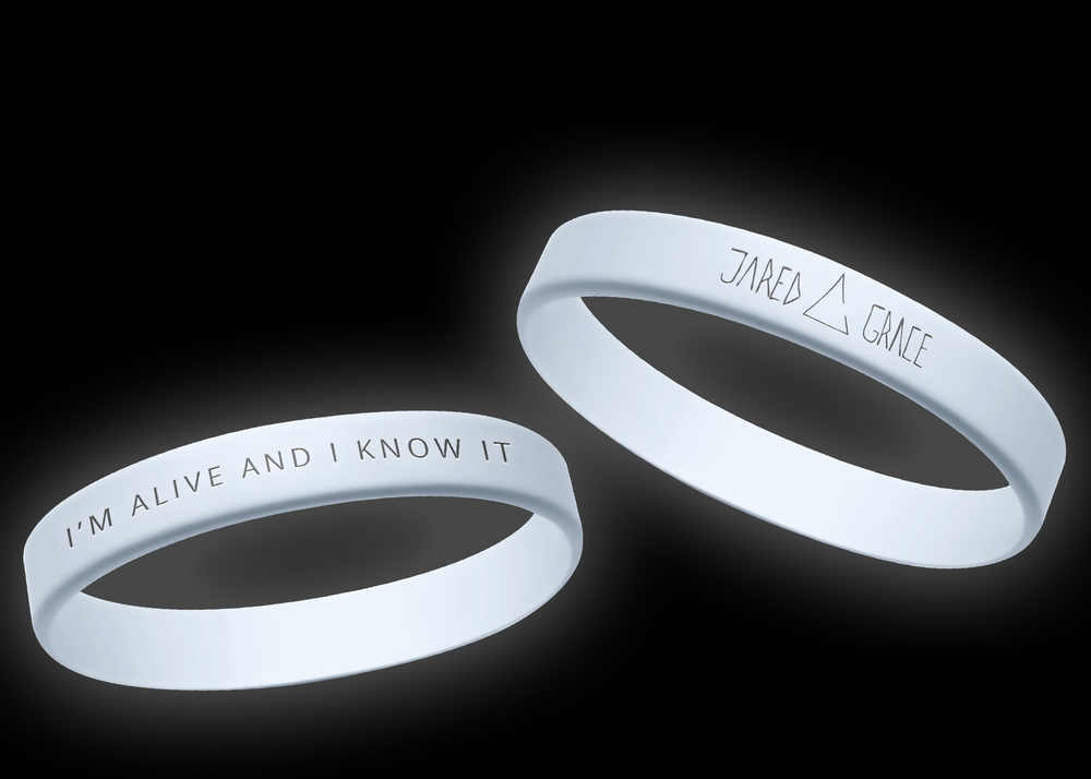 Image of Silicone Lyric Wristband - GLOW