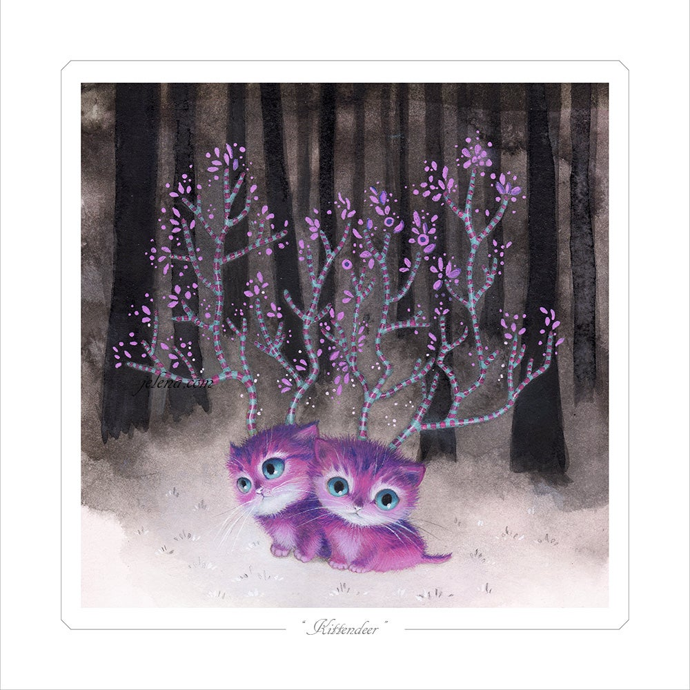 """Image of """"Kittendeer"""" Limited edition Print"""