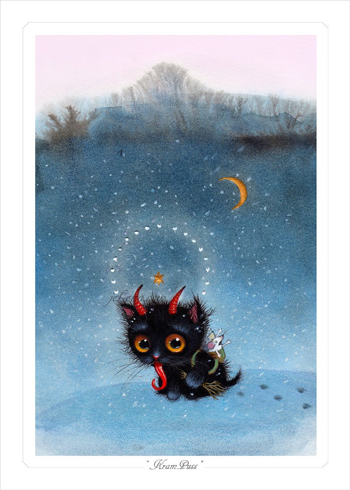 """Image of """"Kram-Puss"""" Limited Edition Print"""