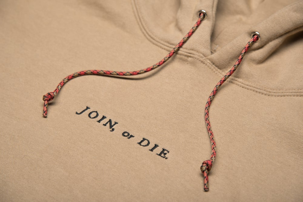 Image of JOIN OR DIE HOODIE