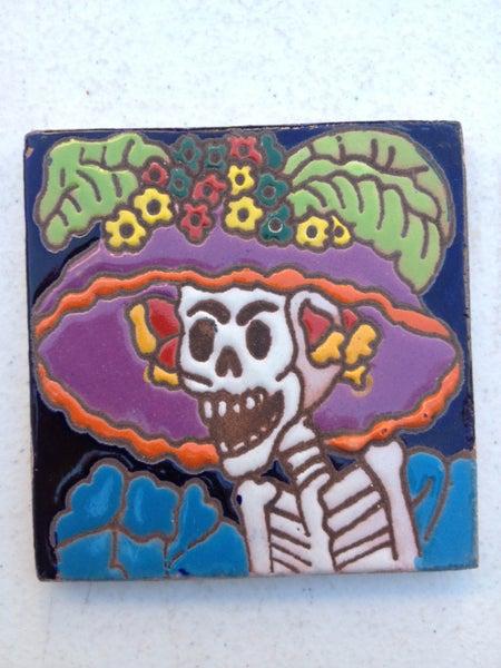 Image of Catrina Angry Coaster Tile
