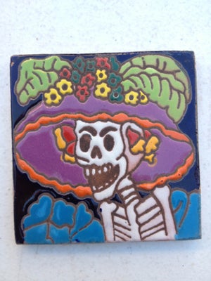 Image of Catrina Angry Coaster Tile