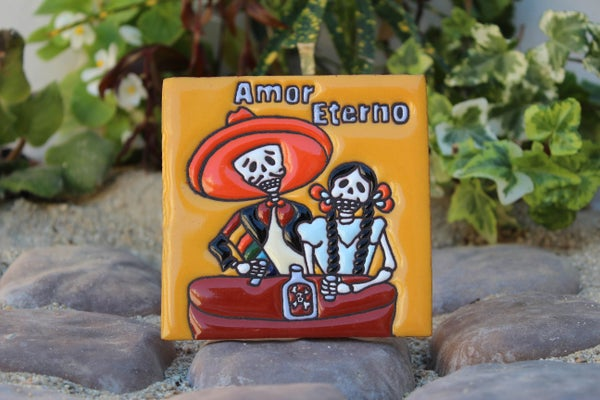 Image of Amor Eterno Coaster Tile